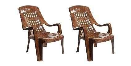 Surprising Cello Comfort Relax Plastic Chair Sandalwood Set Of 2 Cjindustries Chair Design For Home Cjindustriesco