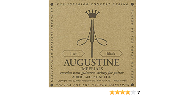 Augustine Classical Guitar Strings Hlsetimpblack Musical Instruments
