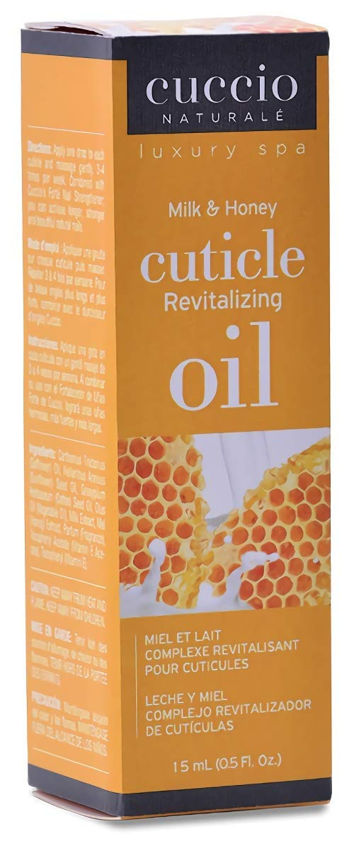 Cuccio Naturalé Milk & Honey Cuticle Revitalizing Oil - Lightweight Super-Penetrating - Nourish, Soothe & Moisturize - Paraben/Cruelty Free, w/ Natural Ingredients/Plant Based Preservatives - 0.50 oz: Beauty
