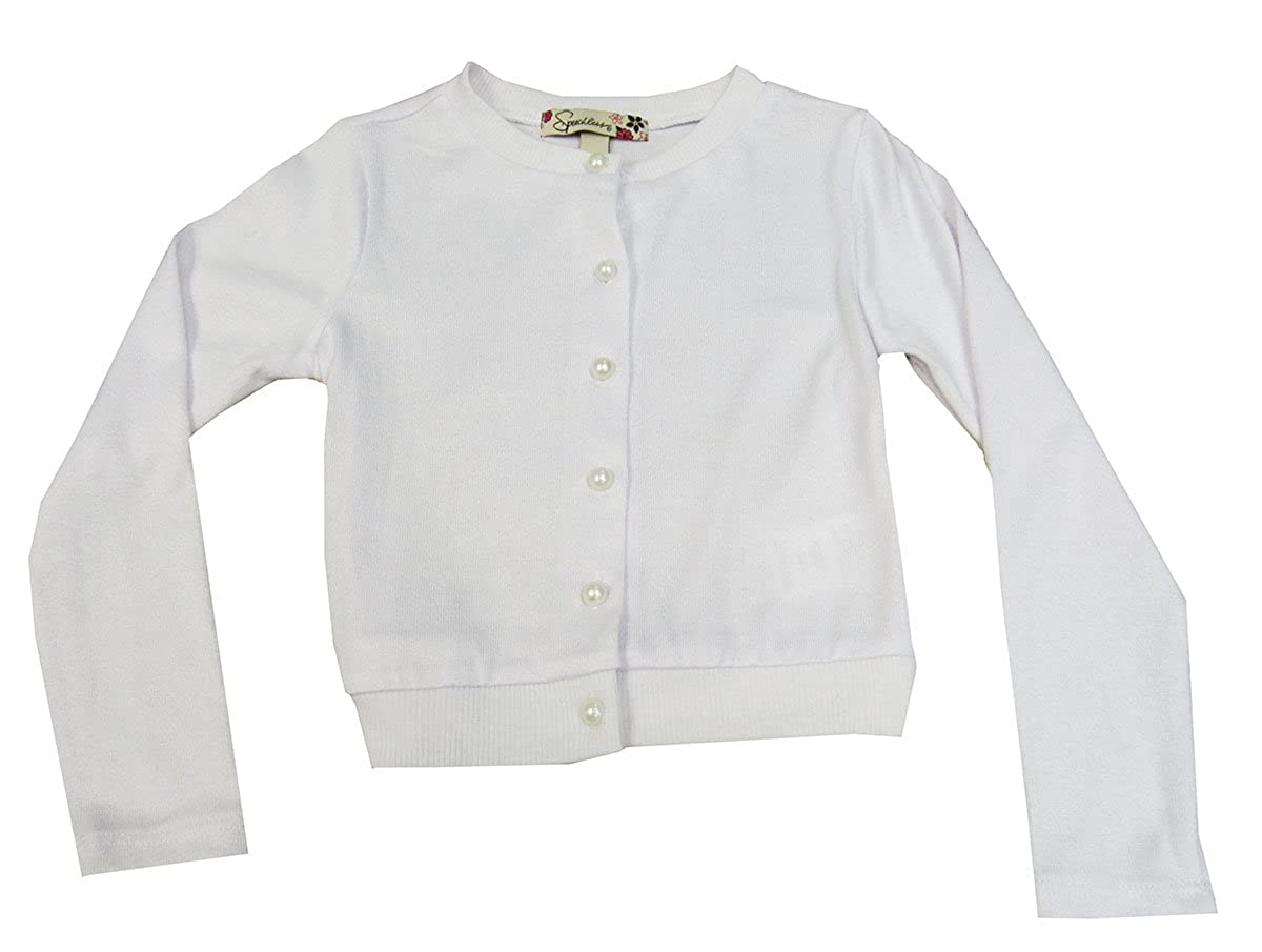 Speechless Little Girls Pearlized Button-Front Cardigan White 3T