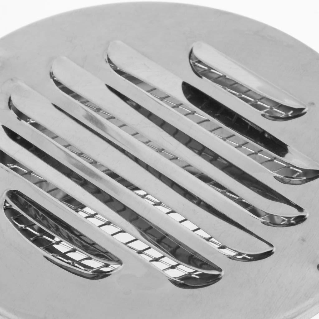 Lochgr/ö/ße 2,95 Zoll 2 Stk. Kanaldurchmesser Edelstahl Air Vent Outlet Grill Mesh Jalousie Auspuffgitter f/ür 75 mm