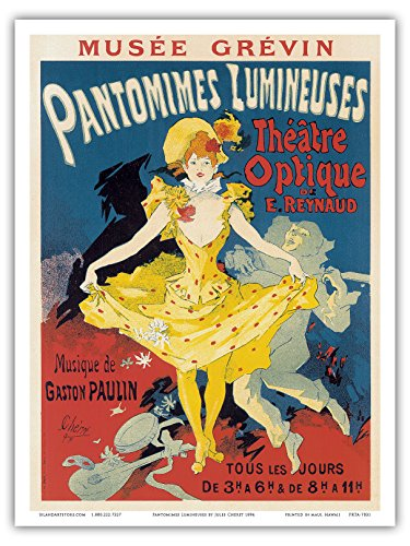 Pantomimes Lumineuses - Cabaret - Paris France - Vintage French Advertising Poster by Jules Chéret c.1894 - Master Art Print - 9in x 12in