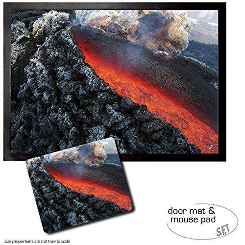 set-1-door-mat-floor-mat-28x20-inches-1-mouse-pad-9x7-inches-volcanos-lava-flow-at-mount-etna-erupti