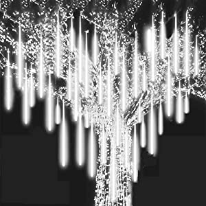 Roytong Waterproof Cascading LED Meteor Shower Rain Lights Outdoor for Holiday Party Wedding Christmas Tree Party Tree Decoration Birthday Gift (Cool, 11.80)