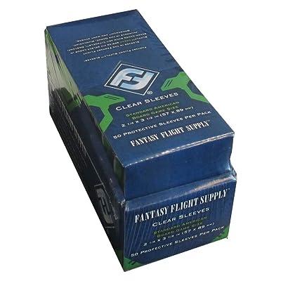 Fantasy Flight Games 500 Standard American Board Game Size Sleeves - 10 Packs + Box - Usa - Ffs03 57 X 89: Toys & Games