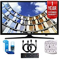 Samsung UN43M5300AFXZA Flat 43 LED 1920x1080p Smart TV (2017 Model) with 1 Year Extended Warranty, Professional Screen Cleaning Kit, and Two (2) 6 Foot HDMI Cables Bundle