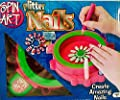 Spin Art Glitter Nails Christmas Holiday Gift Set - Create Amazing Nails Fun! - USA Seller