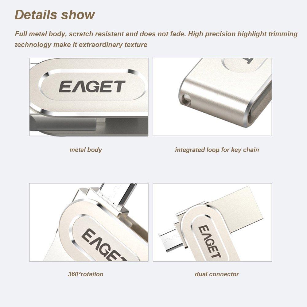 EAGET V88 16G USB 3.0 Micro USB OTG USBメモリ USBフラッシュ USBメモリ 親指ペンドライブ AndroidスマートフォンタブレットPC ラップトップ用