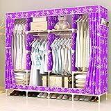 LaaLaa Fabric Wardrobe Portable Free Standing Storage Organizer Portable Wardrobe Storage individual Detachable and Lightweight Clothing Closet Product size:175cm45cm170cm,F