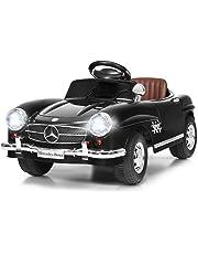 Costzon Ride On Car, Licensed Mercedes Benz 300SL, 6V Electric Kids Vehicle with Manual/Parental Remote Control Modes, Lights, Music, MP3, Volume Control, Black