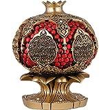 Pomegranate Muslim Home Decor Showpiece - Islamic Abundance Dua - color 5 x 4in (Gold)