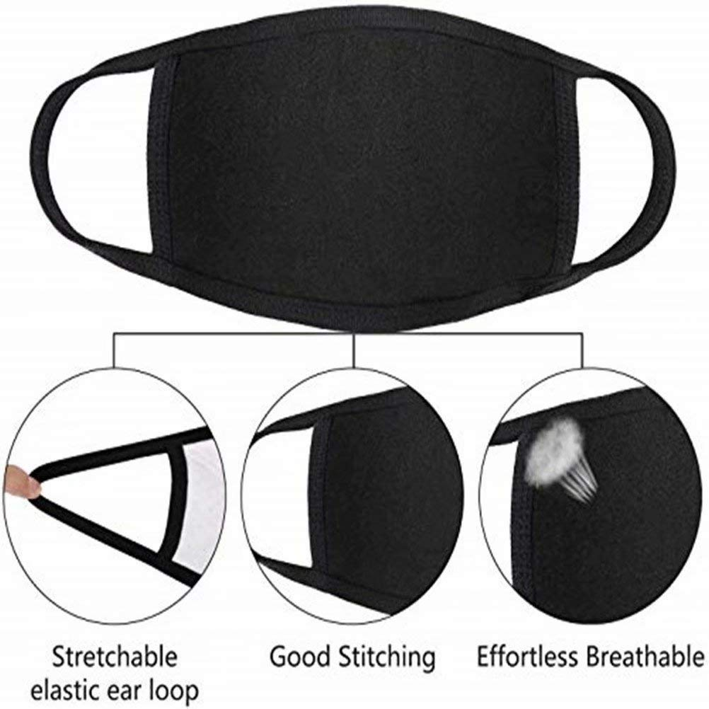 Reusable Cloth-【USA in Stock】 3 Pack Unisex Face Covering Black Dust Cotton Washable