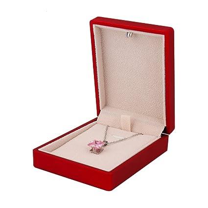 Amazoncom Necklace Box Organizer Square Jewelry Storage Case