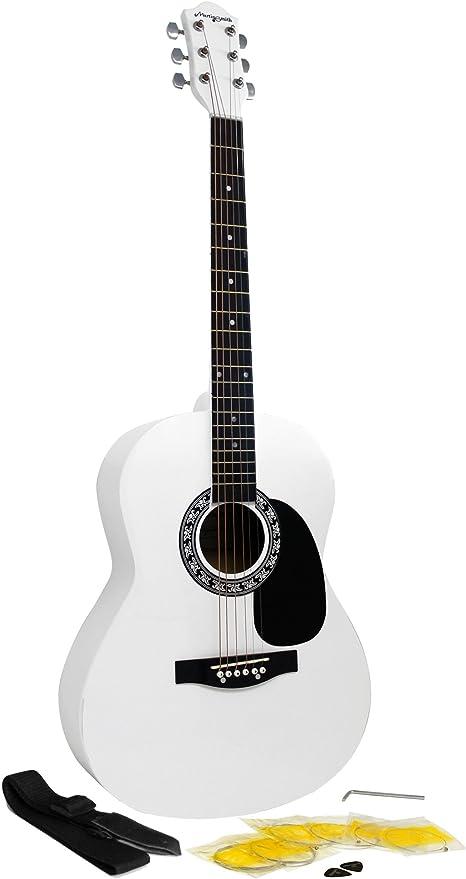 Martin Smith W-100-WH-PK - Paquete de guitarra acústica con ...