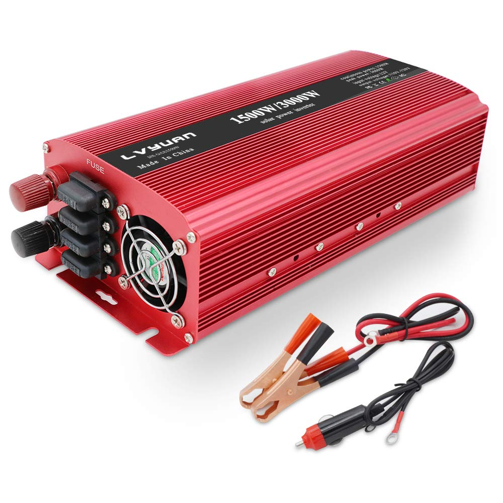 2018 New 1500w 3000w Power Inverter Dual Ac Outlets And Amazonco Fuse Xbox 360 Amazon Electronics