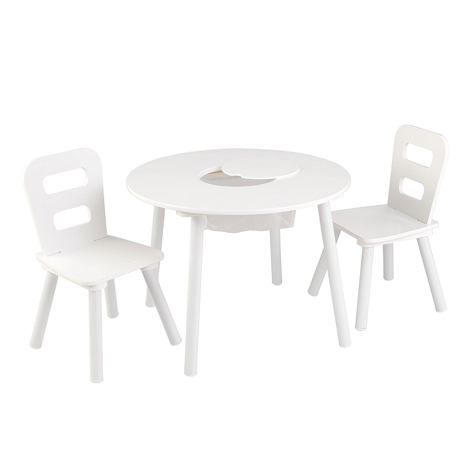 Amazon KidKraft Kids Round Table and 2 Chairs Set White