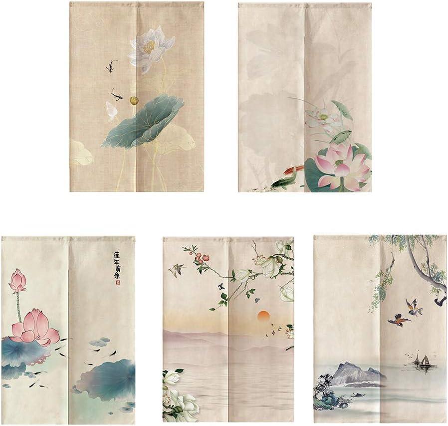joyMerit Pannelli per Windows Cancello Giapponese Noren in Feng Shui Drape 85 Cm A/_33x59inch