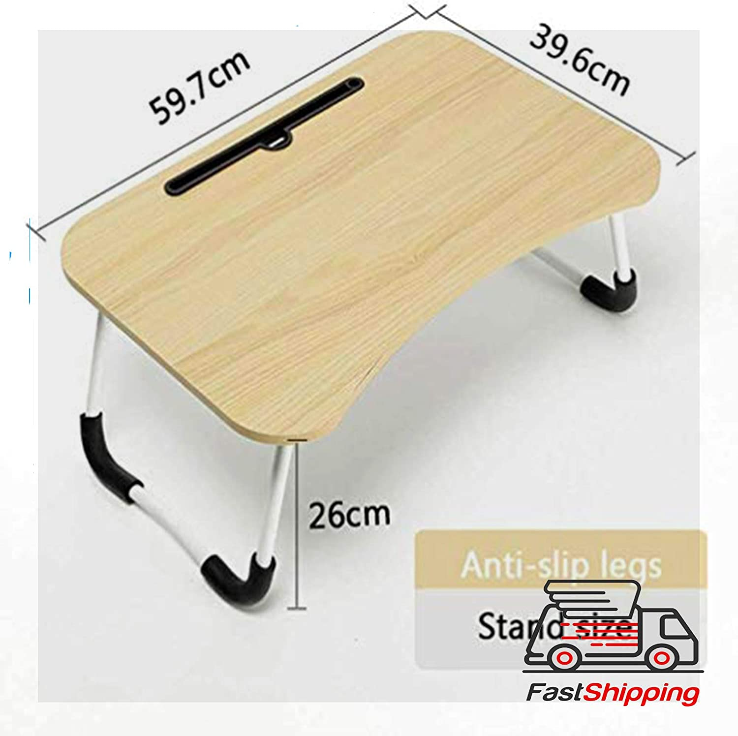 Laptop Lapdesk Small Desk Folding Small Dormitory Table Perfect for Watching Movie on Bed Or As Personal Dinning Table Foldable Bed Tray,Portable Lap Desk with Phone Slots Notebook Table Dorm Desk