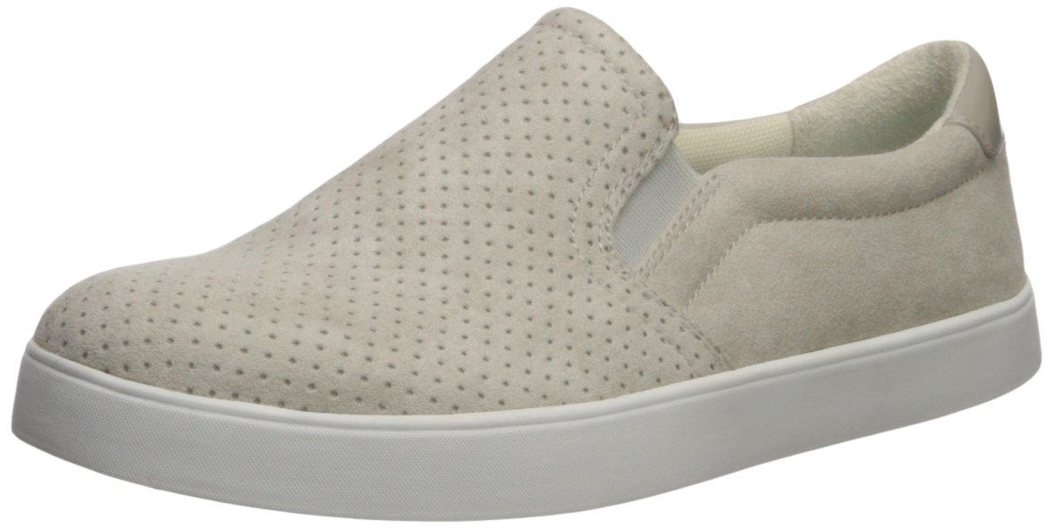 Dr. Scholl's Shoes Women's Madison Sneaker, Greige Microfiber Perforated, 6.5 Medium US