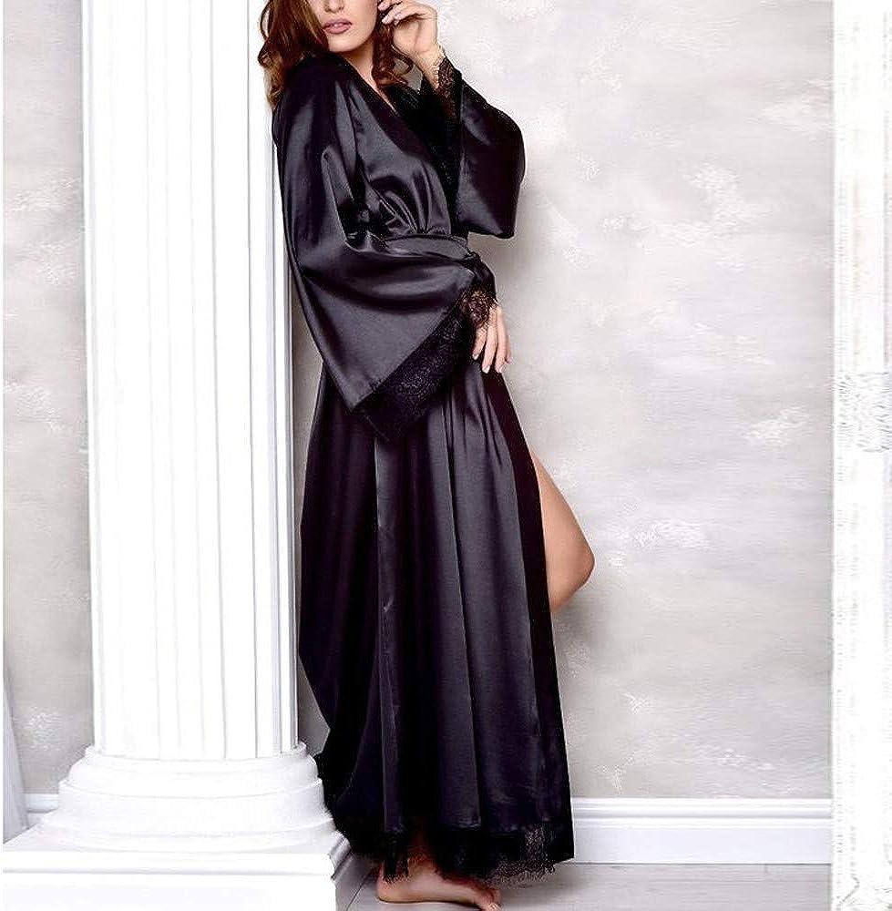 Raso di Seta del Pavone e Robe Accappatoio Damigella dOnore da Notte Pigiama Leey Donna Kimono Vestaglia Pigiama Sleepwear Stile Lungo