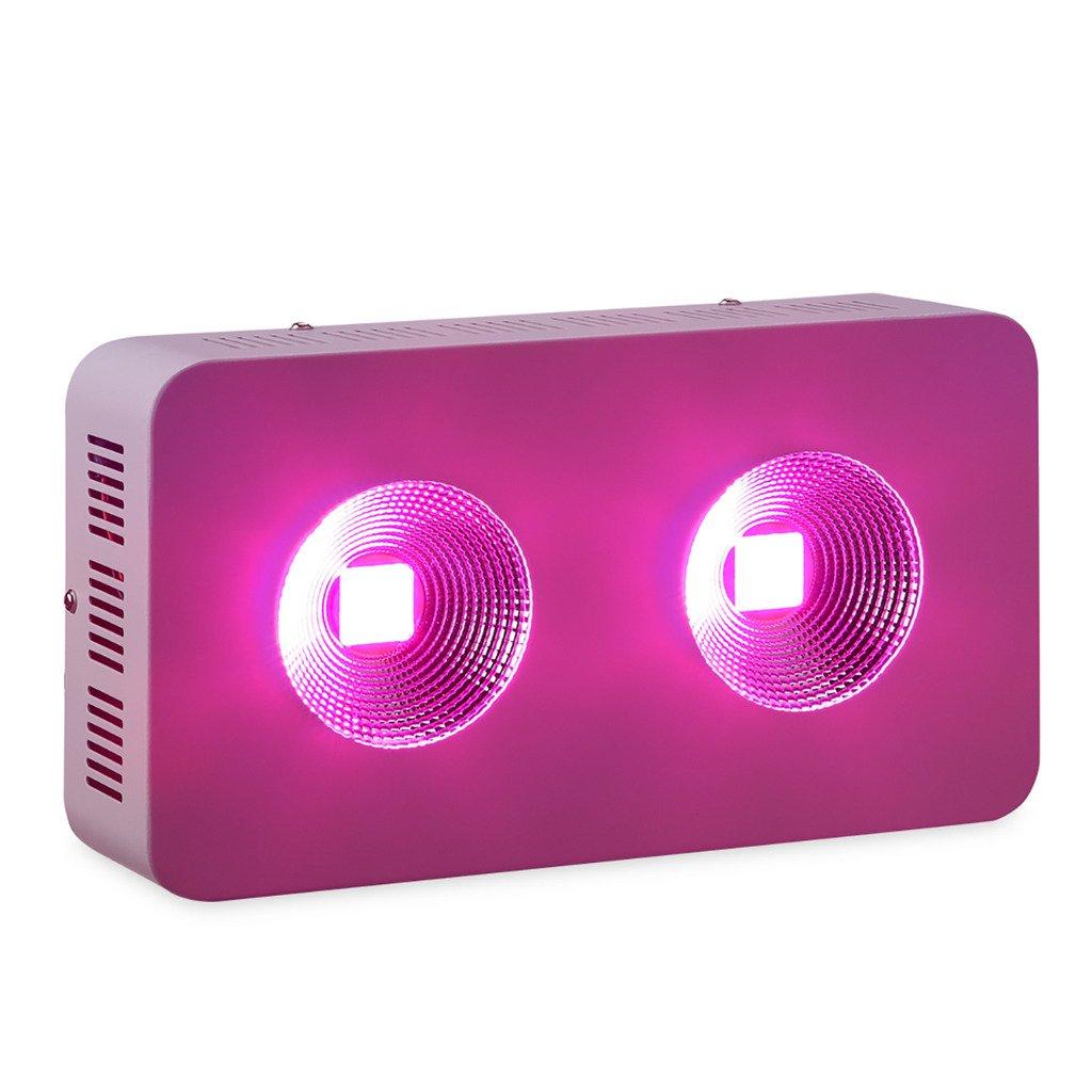 BLOOMWIN LED COB Lampe Pflanzenlicht 400W, Full Spectrum Hydroponik Warmhaus COB LED Lampe, für Gemüse Blumen Frucht