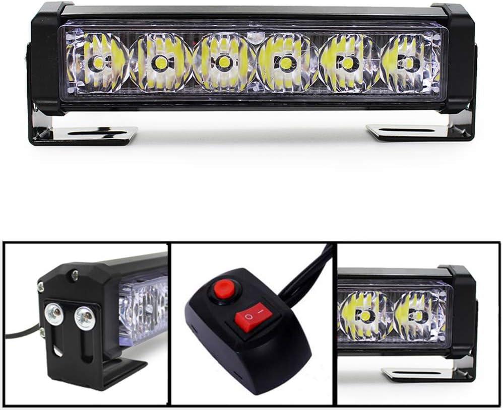 2x6 Led Emergency Vehicle Strobe Lights Bars Warning Deck Dash Grille Red
