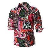 CieKen Men Dress Shirts, Premium Cotton Floral Shirt Long Sleeve Shirt Tops