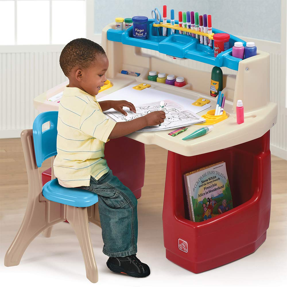 85a664012fd9a Amazon.com  Step2 Deluxe Art Master Kids Desk  Toys   Games