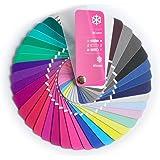 Paleta de color en formato abanico para el color tipo Invierno con 35 colores