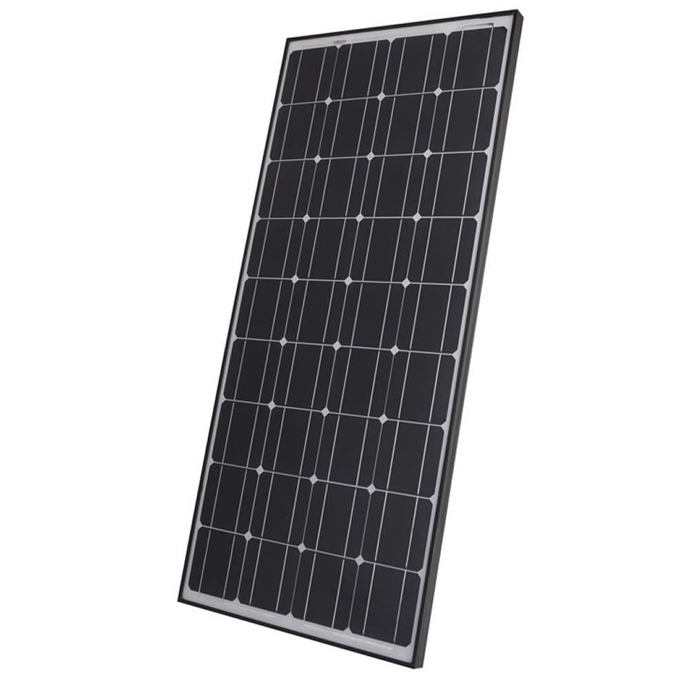 100W Photovoltaik Solarpanel - Solarmodul - Monokristallin Silizium Solarzellen - Schwarz Eloxierter Rahmen - Ideal zum Aufladen von 12V Batterien - Kompakte Größe, Maximale Leistung