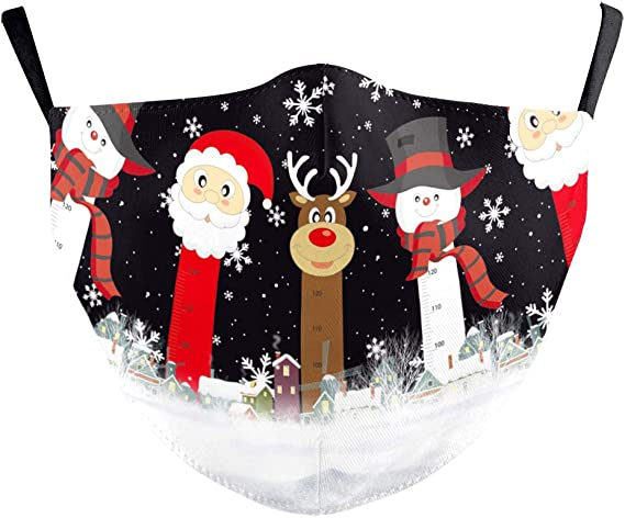 Eboutik Niedliche Lustige Weihnachts Gesichtsmaske Mit Filterschlitz Wiederverwendbar Und Waschbar Bei 60 Grad Gesichtsbedeckungen Kaminsims Weihnachtsmann Und Freunde Auto