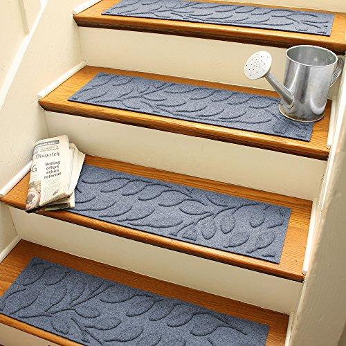 Cheap  AquaShield Brittany Leaf Stair Treads, 8.5 by 30-Inch, Bluestone, Set of 4