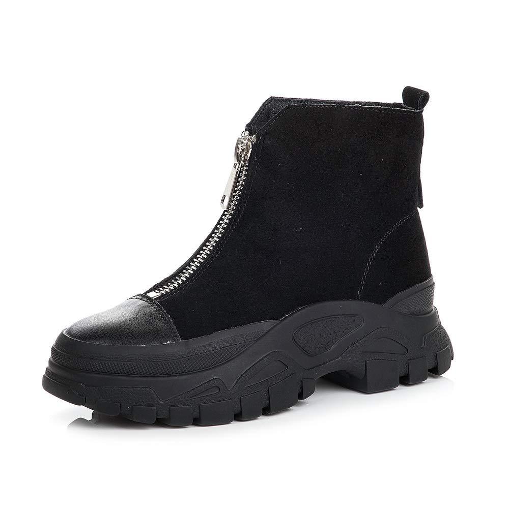 SHANGWU Frau Hallo Top Plattform Trainer Stiefel Stiefeletten Schuhe Frau Reitsport Winter Dicke Sohle Turnschuhe Lace-up Top Casual Stiefel große Größe