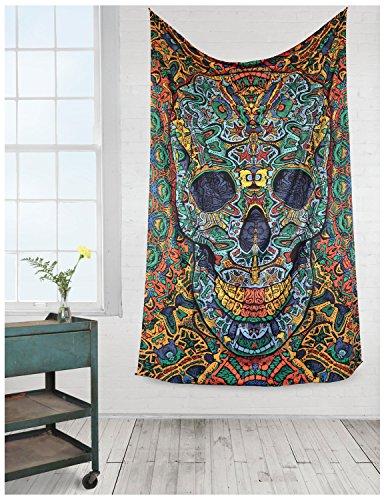 Sunshine Joy® 3D Skull Tapestry - 60X90 - Beach Sheet - Hanging Wall Art