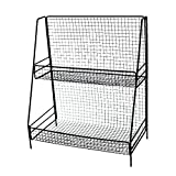 LianLe 2 Tier Iron Storage Rack Stand Basket,Metal Organization Rack For Kitchen Bedroom