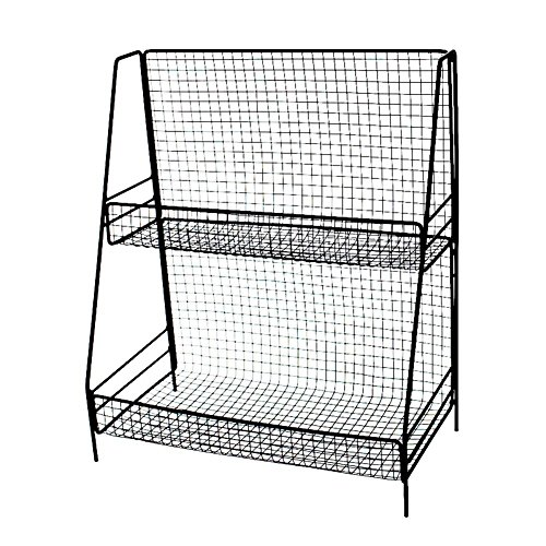 LianLe 2 Tier Iron Storage Rack Stand Basket,Metal Organization Rack For Kitchen Bedroom by LianLe