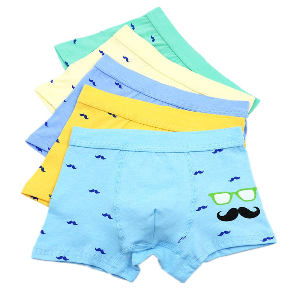 Boy's Boxer Briefs Comfortable Cotton Short Toddler Underwear 5 Pack So Aromatherapy