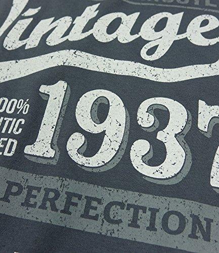 1937 Vintage Year - Aged To Perfection - 80. Geburtstag geschenk T-Shirt fr Herren Grau S