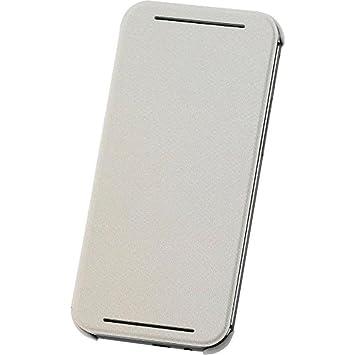 HTC Carcasa tipo Flip con Enganche Trasero para HTC One (M8) - Blanco