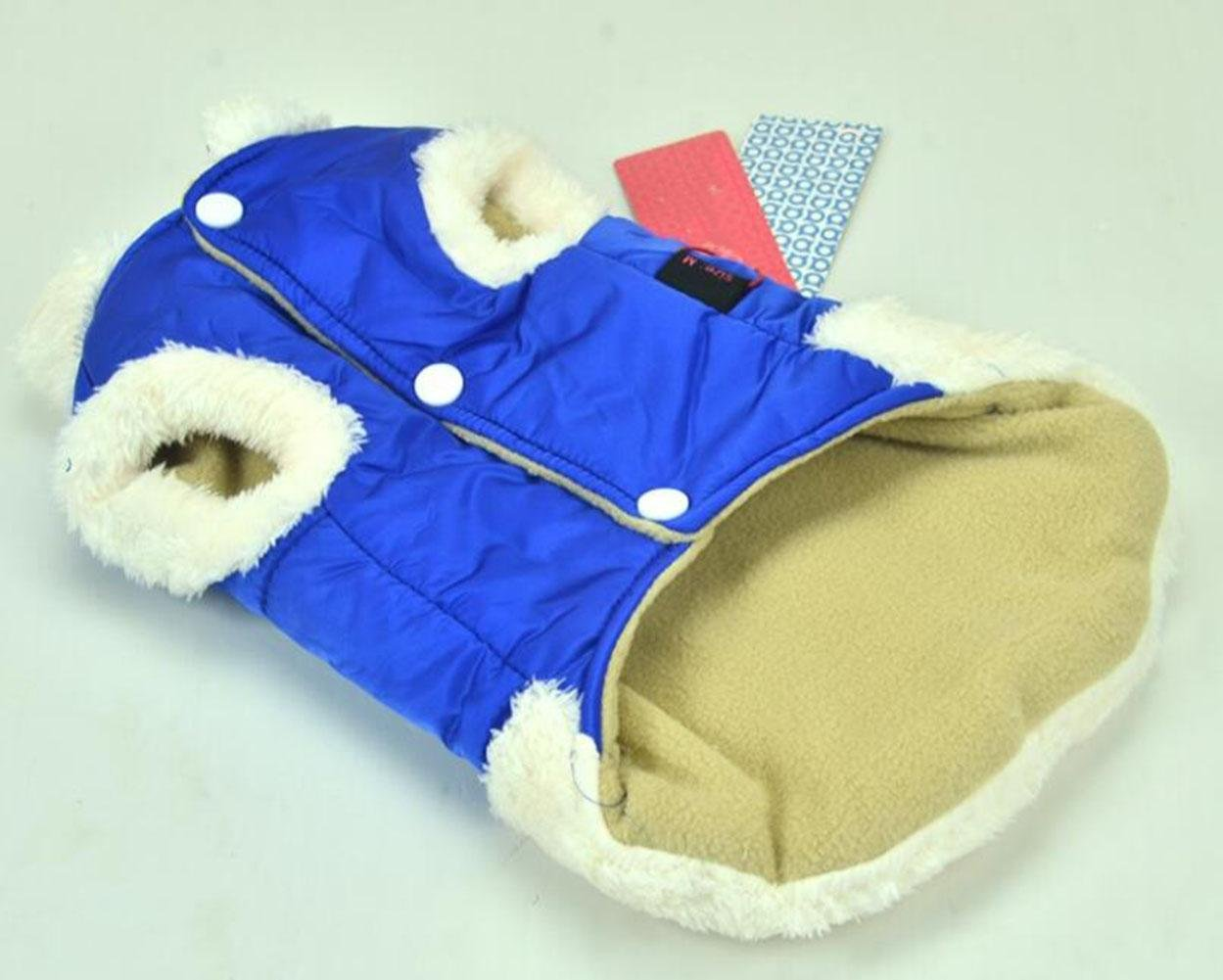 blueEXL CHWYFX Winter Warm Pet Jackets Coats for Small Medium Dogs Red bluee Green Yellow