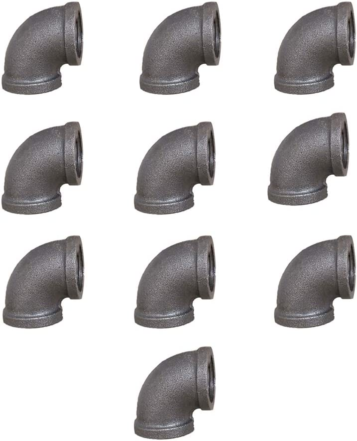 GeilSpace Elbow, Malleable Iron Pipe Fittings - Vintage DIY Industrial Shelving, Industrial Decor, Furniture DIY (3/4