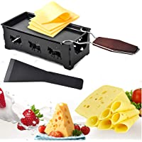 Cheese Melt Pan, Portable Foldable Non-Stick Candlelight Cheese Raclette Pan with Spatula and Wood Handle, Home Kitchen…