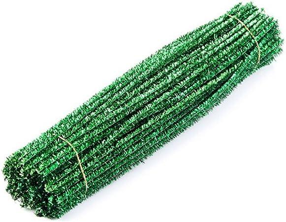 Verde Toyvian Scovolini Decorativi Bastoncini in ciniglia lavoretti Natalizi lavoretti creativi per Bambini 100 Pezzi 30cm