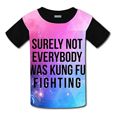 e0b7f844b Image Unavailable. Image not available for. Color: Kids Not Everybody was Kung  Fu Fighting T Shirts/Tee ...