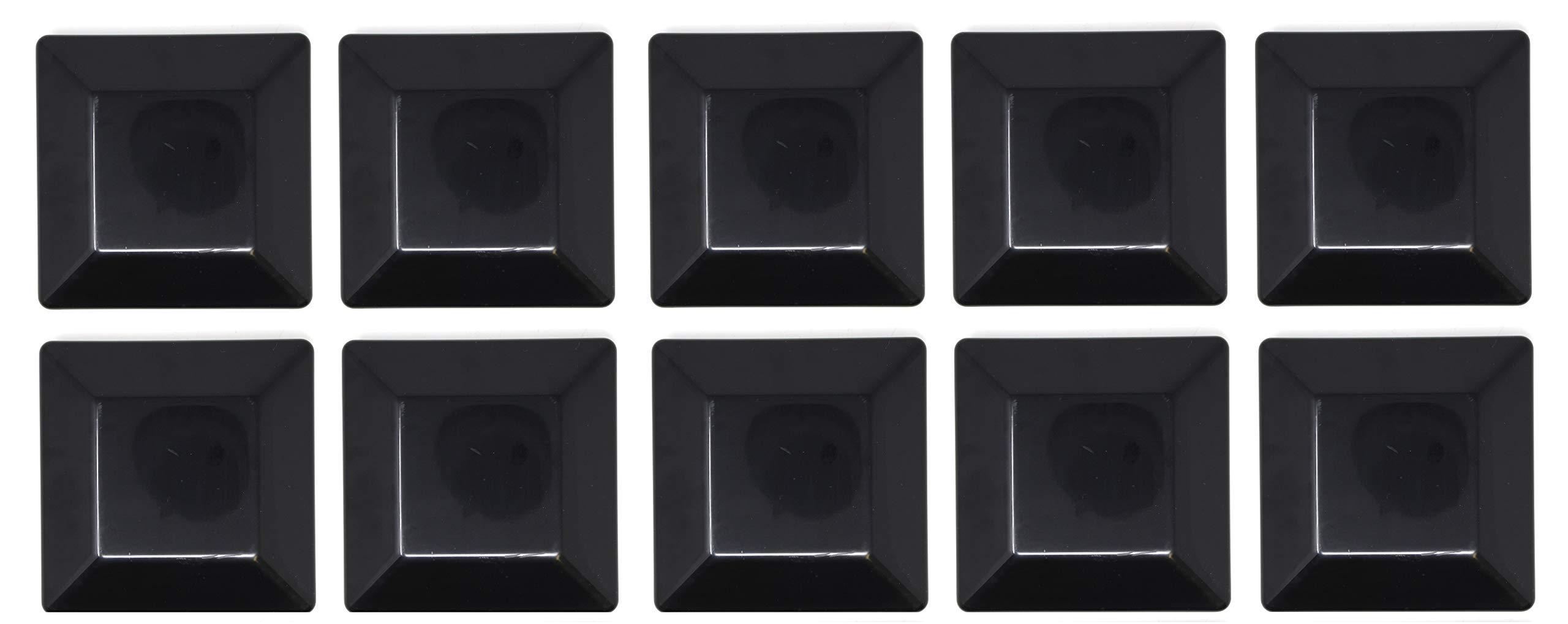 10 PACK-BLACK-6X6 FENCE POST PLASTIC CAP-(5 5/8 X 5 5/8) Pressure Treated Wood Made In USA by JSP Manufacturing