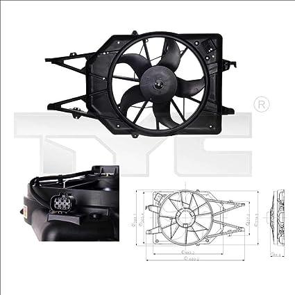 TYC Ventilador, refrigeración del motor 810 – 0017: Amazon.es ...