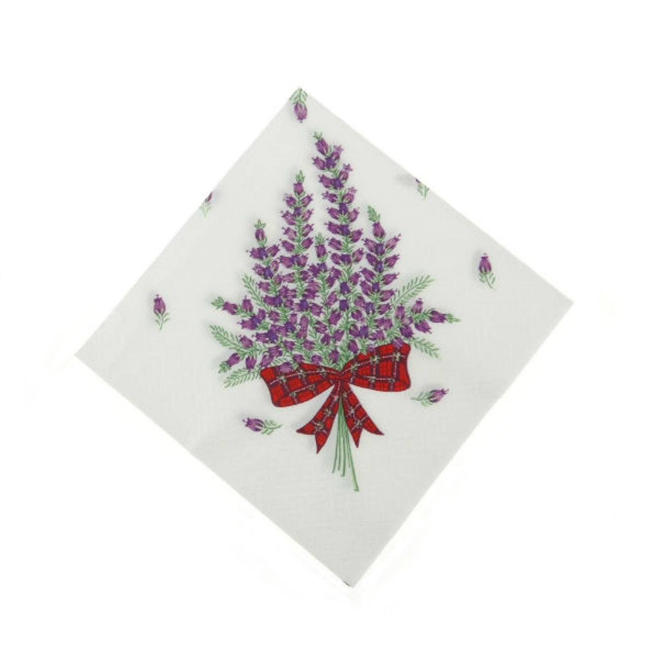20 Pack Scottish Heather in a Tartan Bow Design Paper Napkins - Made by Glen Appin