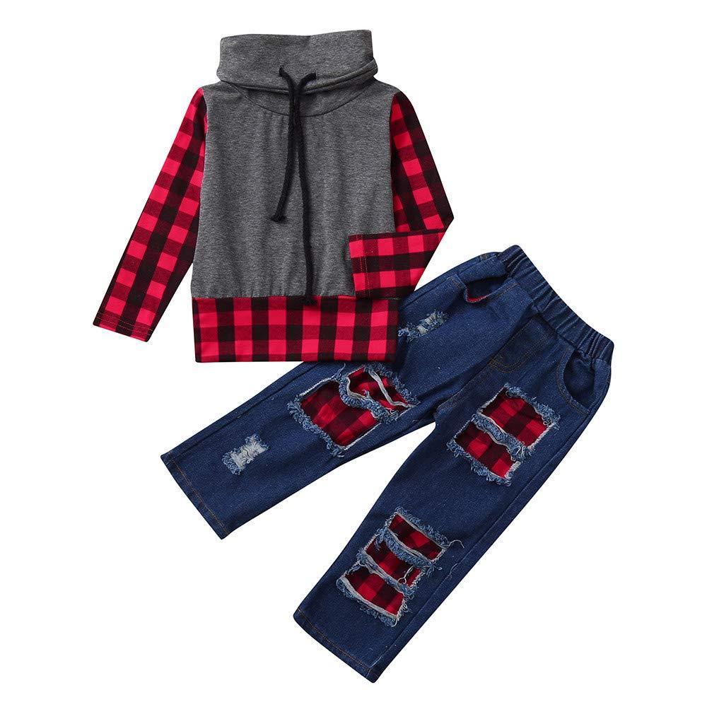 Baby Girls Boys Kids Long Sleeve Coat Fur Hooded Jacket Long Outwear Fashion T Shirt❤Children Jacket Women Clothes Jumpsuit Sweatshirts for Women Plus Size❤Red❤❤Age:18 Month