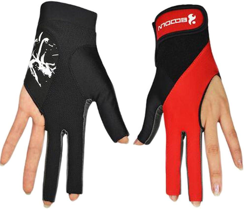 1 par de guantes de billar de 3 dedos para mano izquierda: Amazon ...