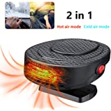 MASO 12V 2 in 1 Portable Car Heater kit,Rapid Heating Defroster,Hot /& Cold Car Cooling Fan Air freshening with Plug in Cigarette Lighter